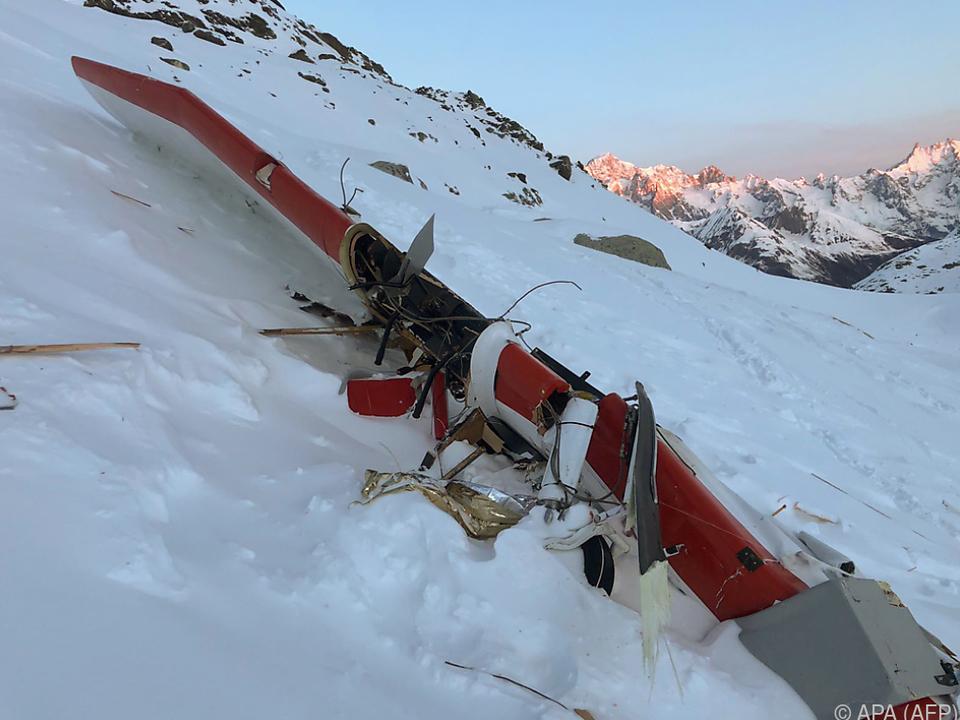 Flugzeugunglück in den italienischen Alpen