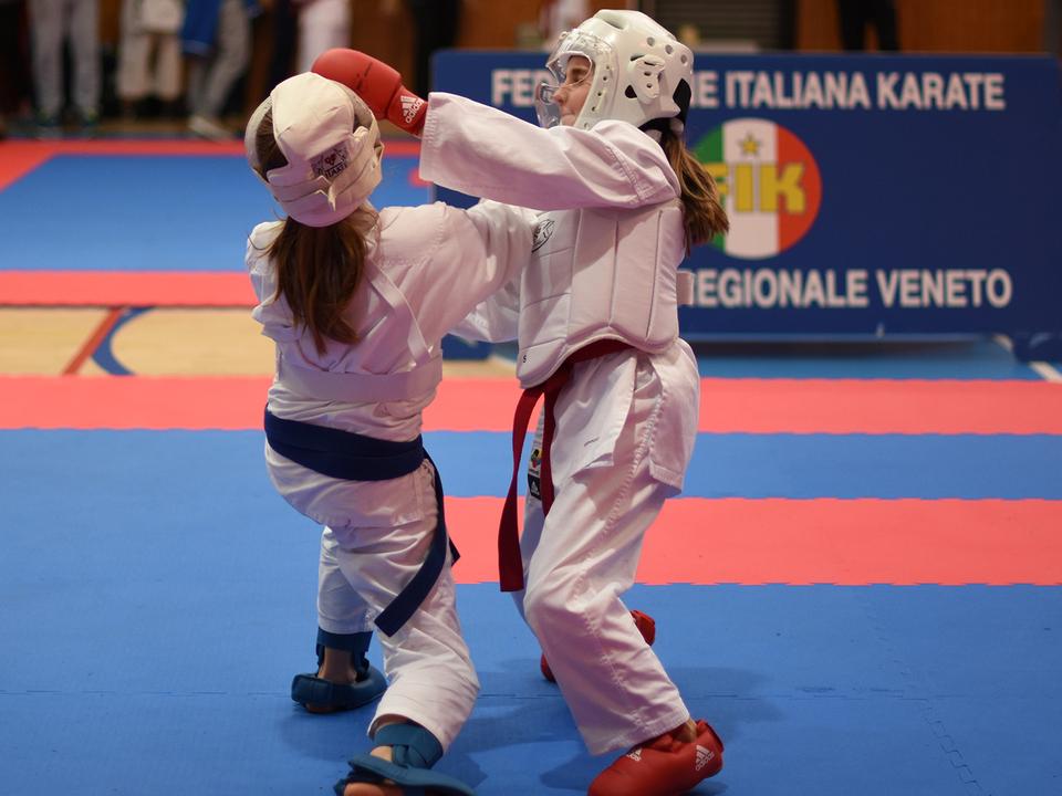 Franziska Balzarek beim Kumite - Platz 5