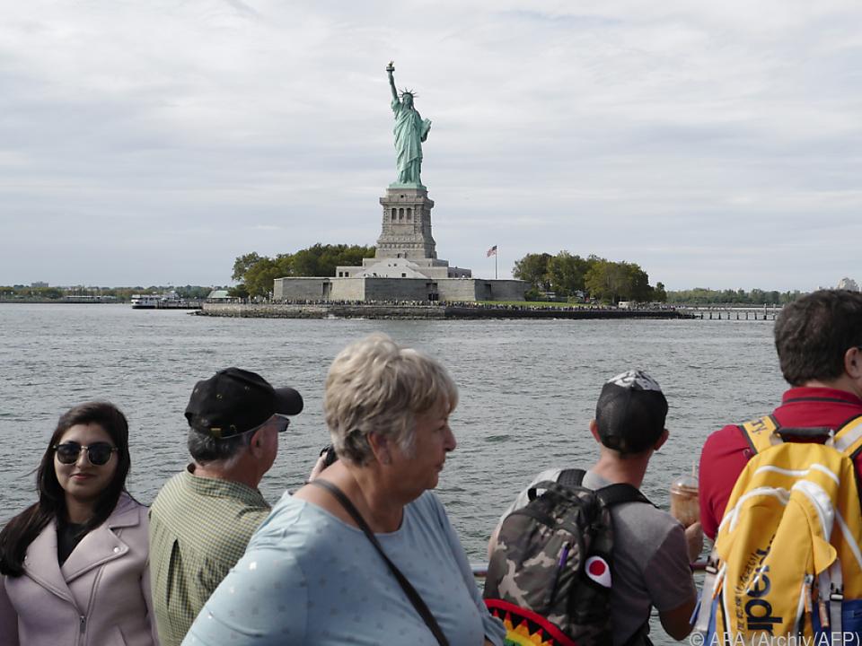 Freiheitsstatue als Touristenmagnet