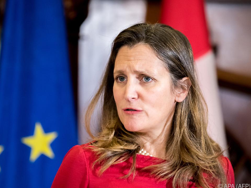 Für Außenministerin Chrystia Freeland ist die Todesstrafe unmenschlich