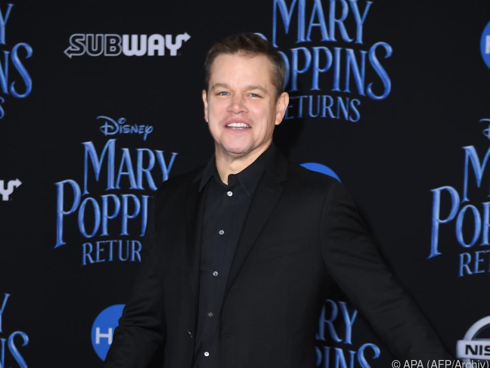 Für Filmpremieren zieht sich Matt Damon schicker an
