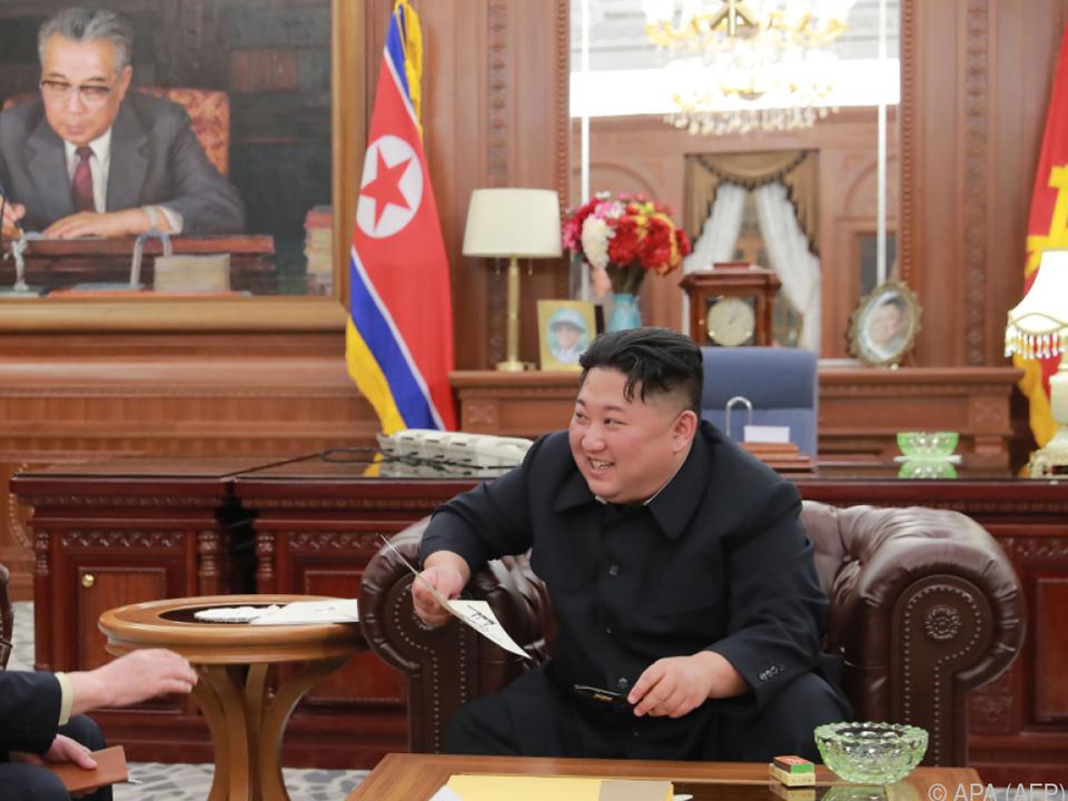 Kim mit Gesprächen seiner Delegation in den USA zufrieden