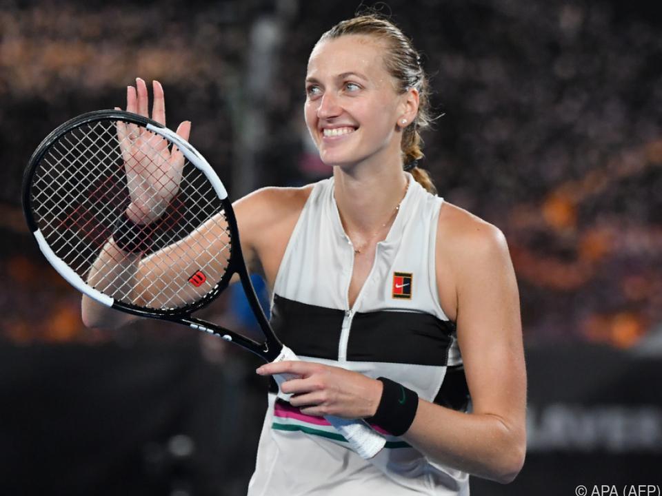 Kvitova gewann gegen Collins in zwei Sätzen