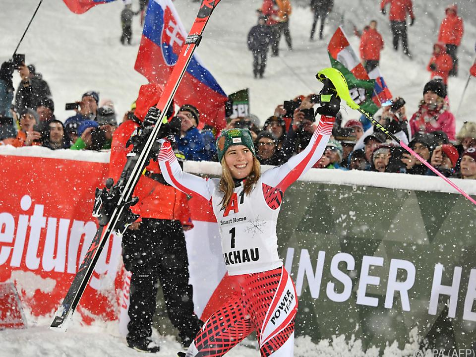 Liensberger holte in Flachau ihr erstes Weltcup-Podest