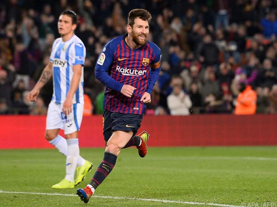 Lionel Messi kann auch in Teilzeit Spiele entscheiden