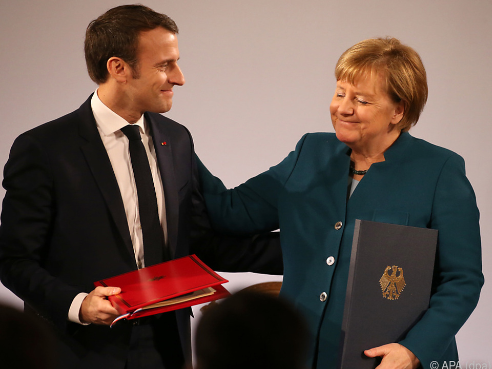 Macron und Merkel erneuerten Freundschaft beider Länder