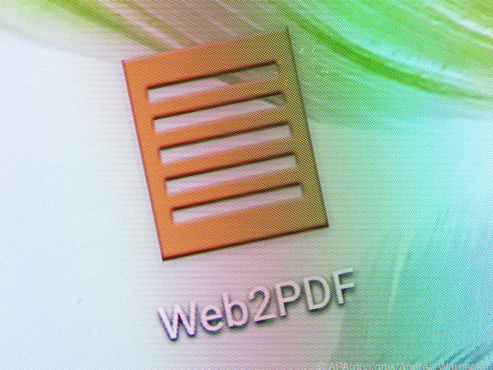 Man muss man nur die gewünschte Internetadresse in Web2PDF hereinkopieren.