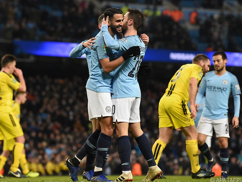 Manchester City kannte mit Burton Albion kein Erbarmen
