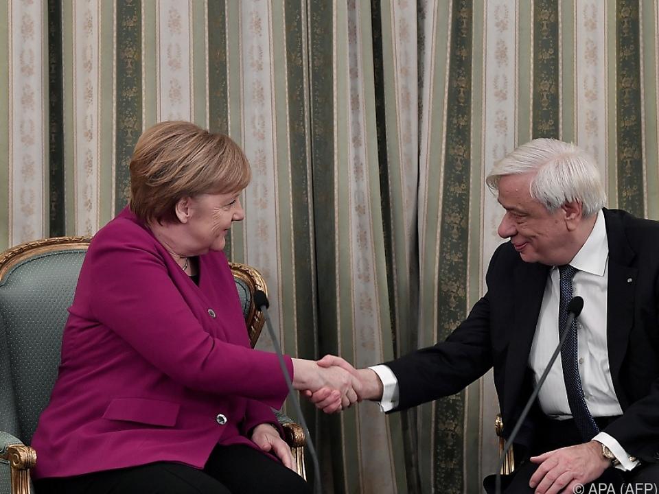 Merkel bei Pavlopoulos in Athen