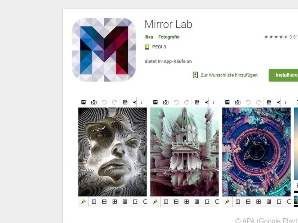 Mirror Lab bietet tolle Effekte