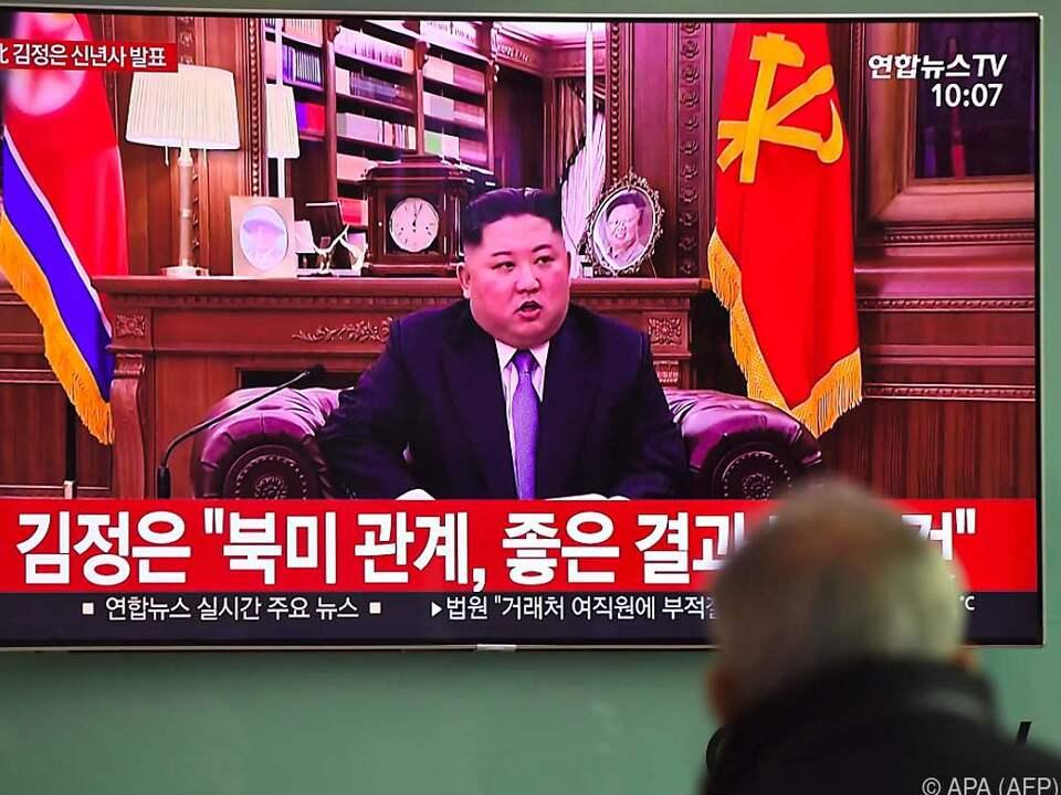 Nordkoreas Machthaber in seiner TV-Ansprache