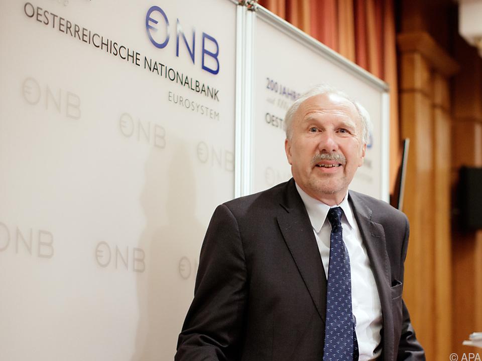 Nowotny sieht Verlangsamung, aber keine Krise
