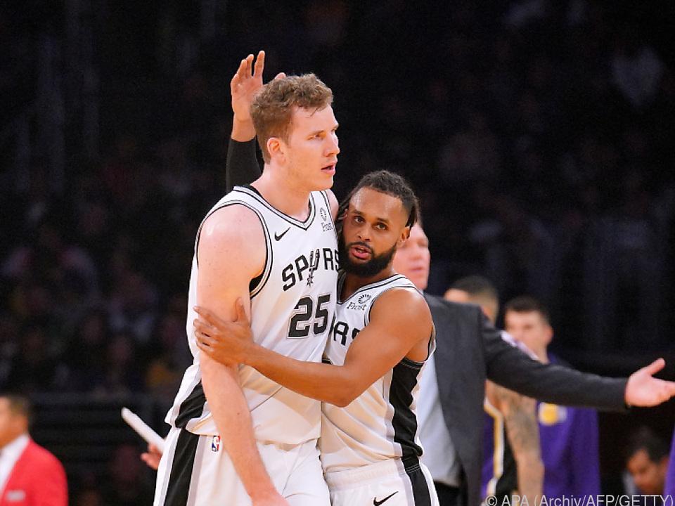Pöltl stand zum fünften Mal in der Starting Five der Spurs