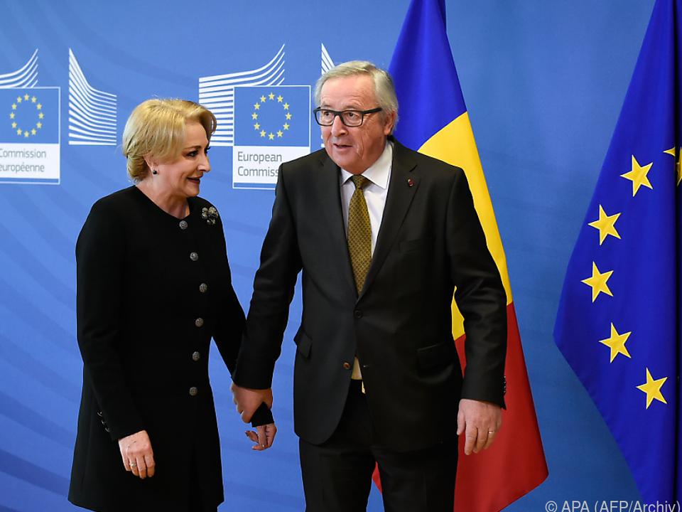 Premierministerin Dancila und Kommissionspräsident Juncker in Brüssel