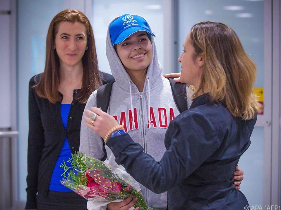 Rahaf Mohammed al-Qunun bei ihrer Ankunft in Toronto