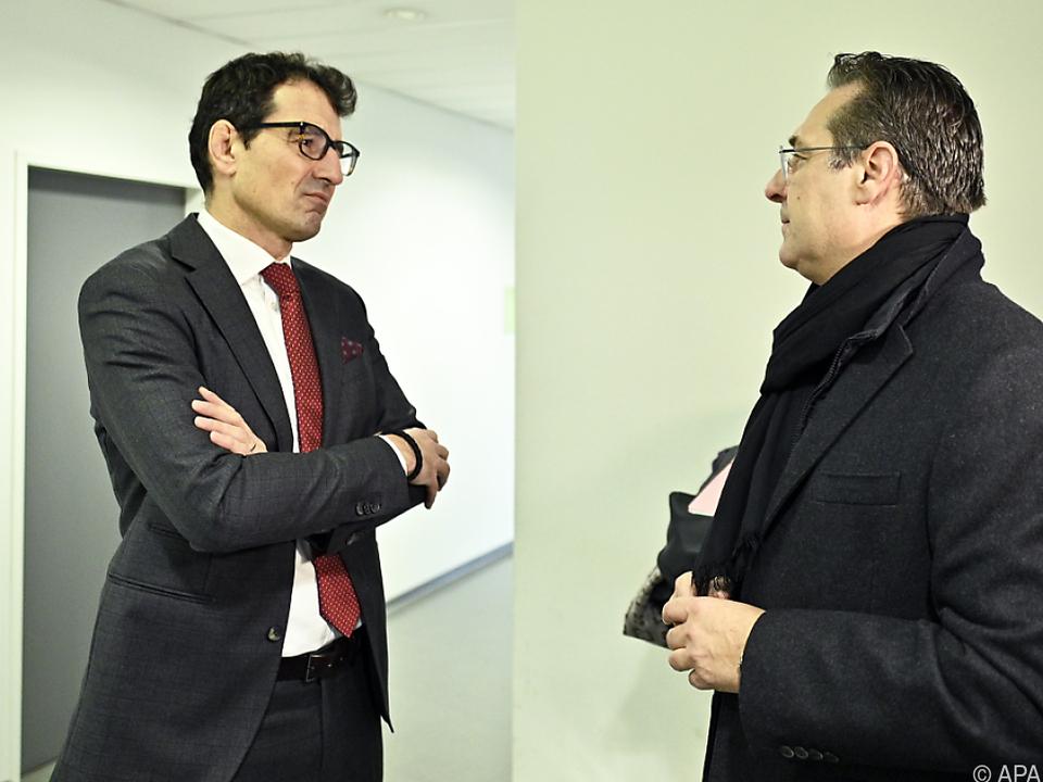 Rami (l.) vertrat bisher u.a. Vizekanzler Strache