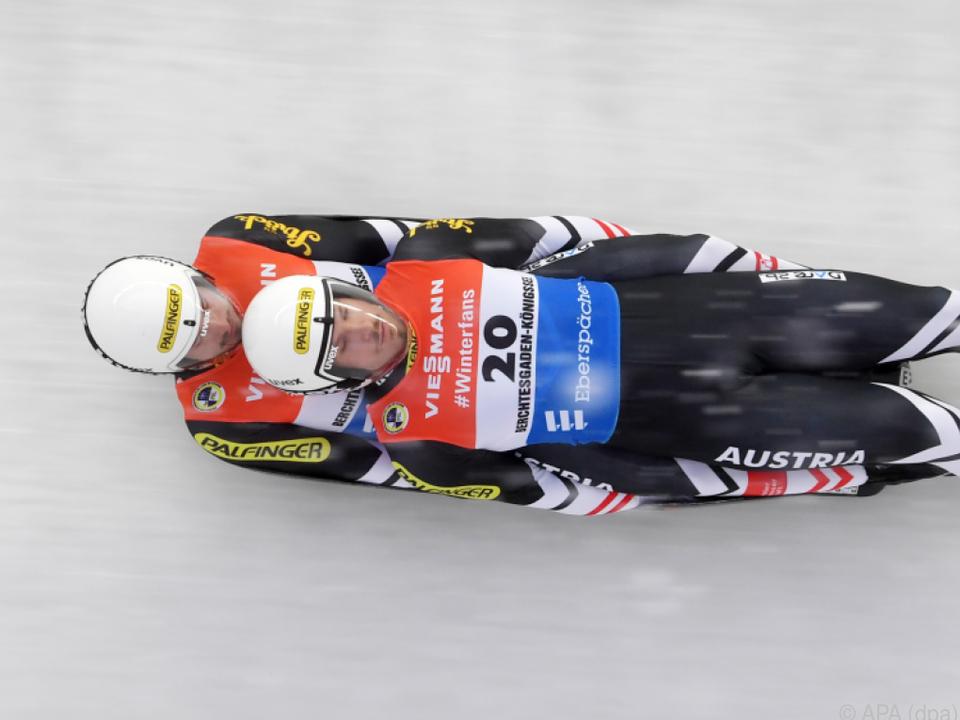 Rodel-Doppelsitzer Thomas Steu/Lorenz Koller