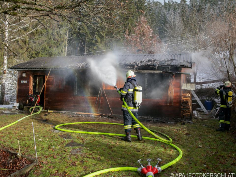 Schwieriger Löscheinsatz für die Feuerwehr