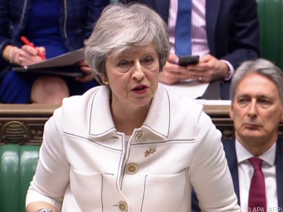 Theresa May sprach am Montag vor dem Parlament in London