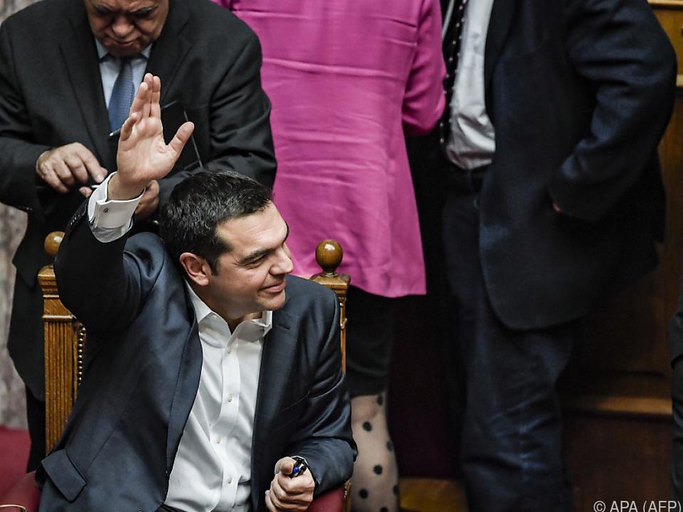 Tsipras bedankte sich bei den Abgeordneten