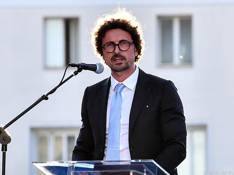Verkehrsminister Toninelli ist für die italienischen Häfen zuständig