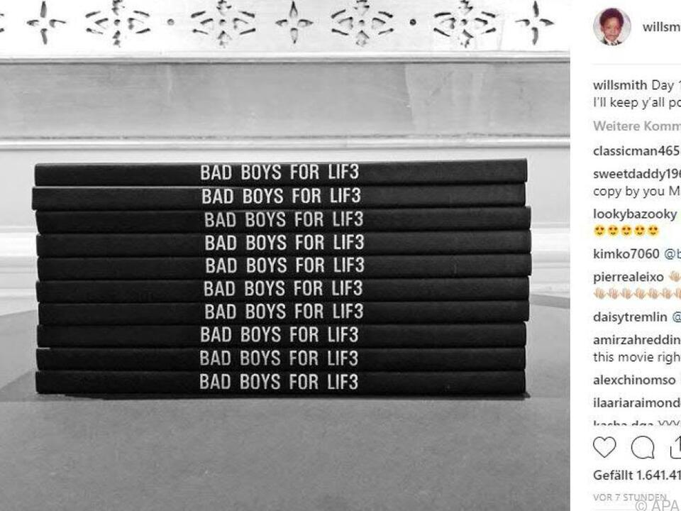 Will Smith postete dieses Bild auf Instagram