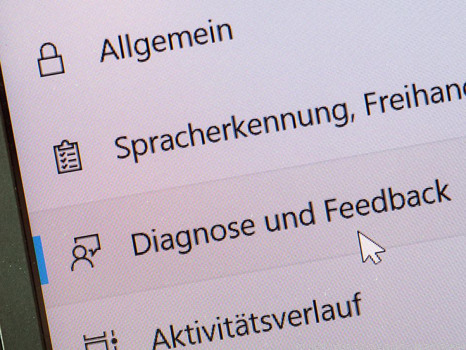 Im Datenschutz-Menü finden Nutzer verschiedene Unterpunkte