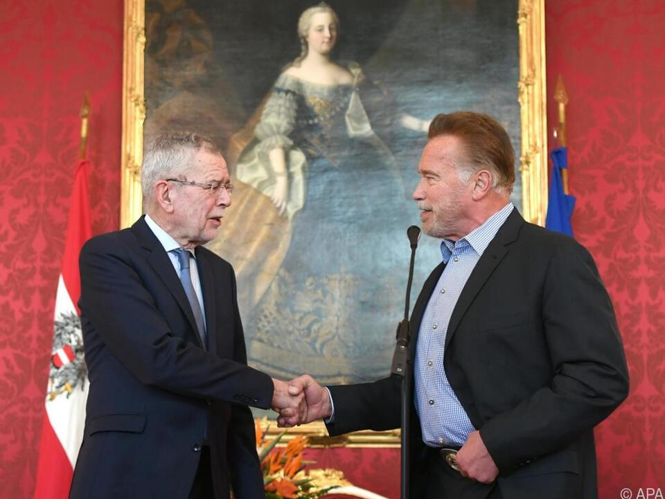Zwei hohe Persönlichkeiten in der Hofburg