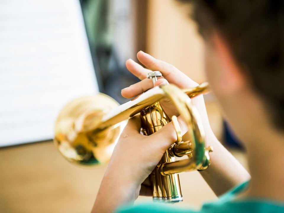 Trompete Musik Musikwochen Kind