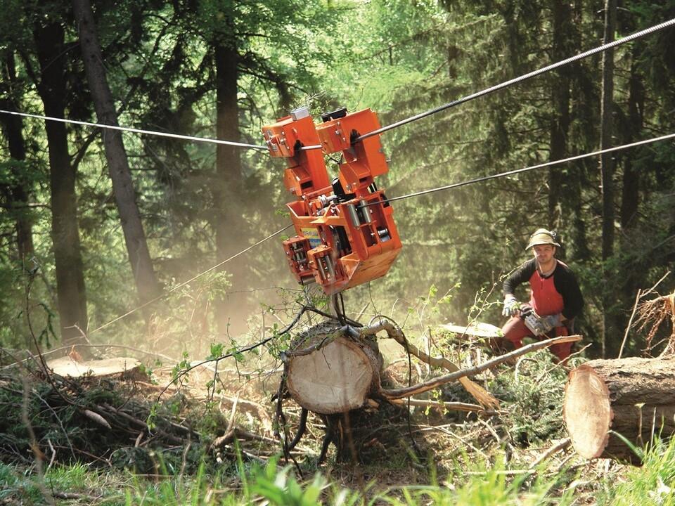 Forstmaschine Laufwagen waldarbeit
