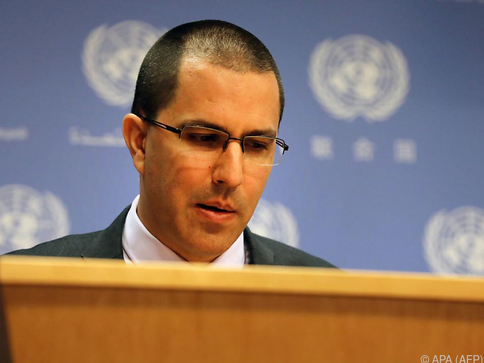 Arreaza wirft den USA Verstöße gegen Gründungsvertrag vor