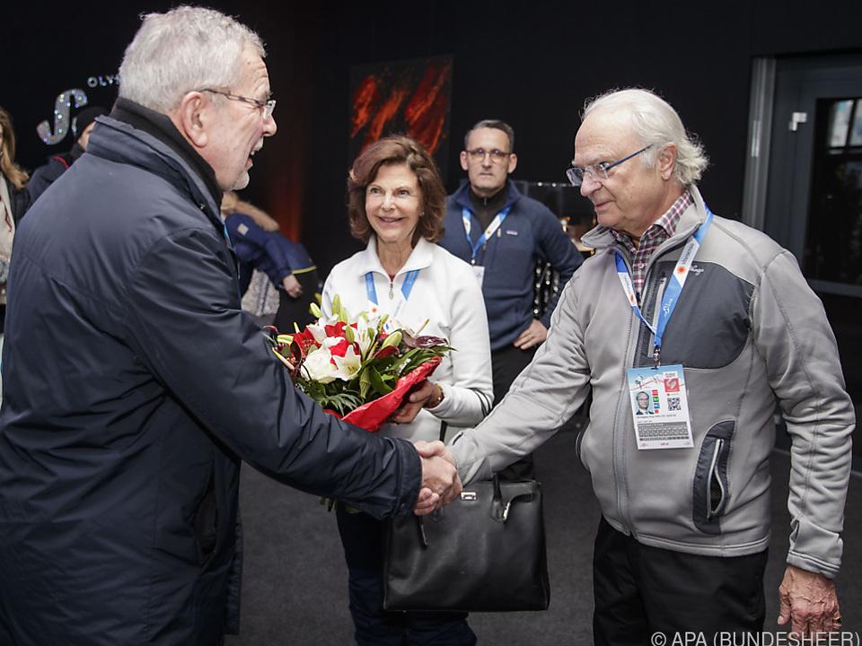 BP Van der Bellen begrüßte Schwedens König