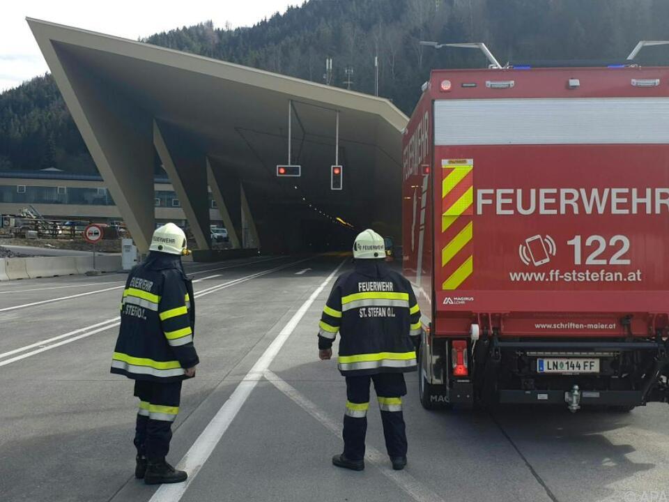 Der Tunnel war bis zum Spätnachmittag gesperrt