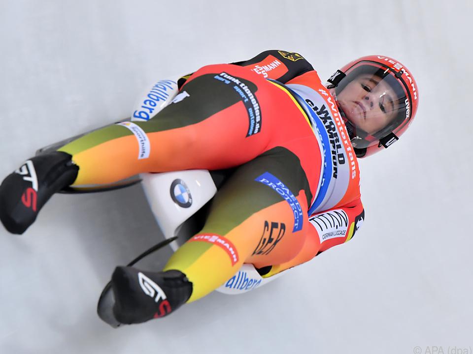 Die Deutsche Natalie Geisenberger sicherte sich den Damen-Titel
