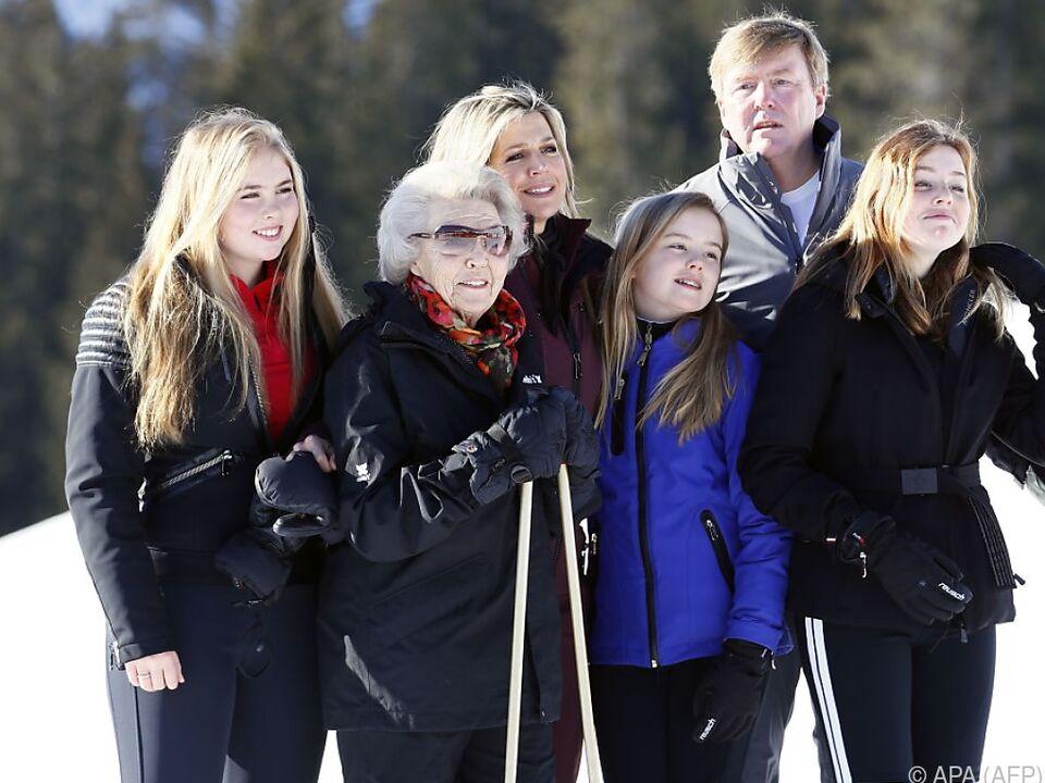 Die königliche Familie beim Fototermin