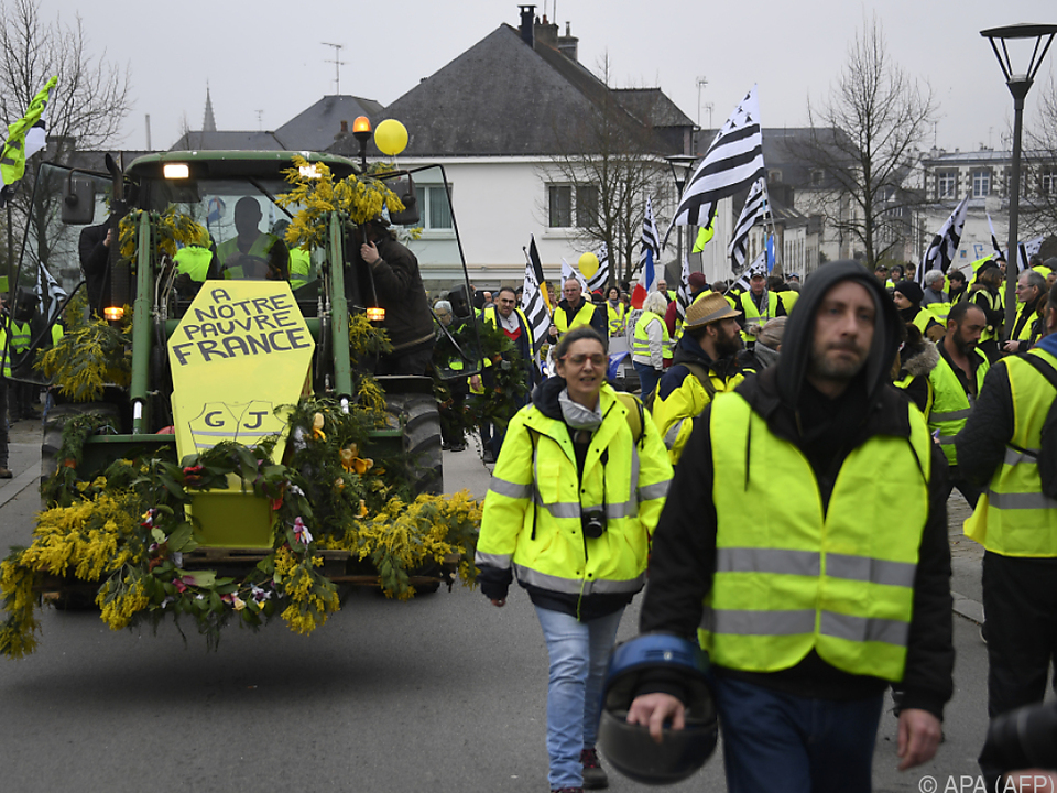 Die Proteste fanden am Samstag zum 14. Mal in Folge statt