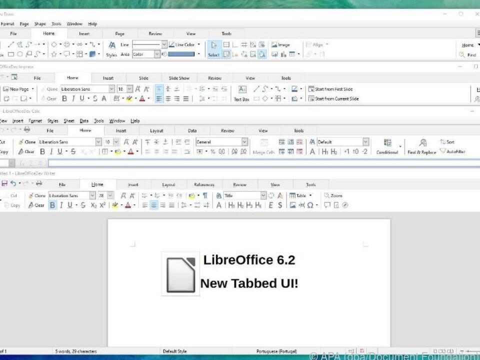 Die Register- bzw. Tab-Struktur kann man nun auch in LibreOffice nutzen