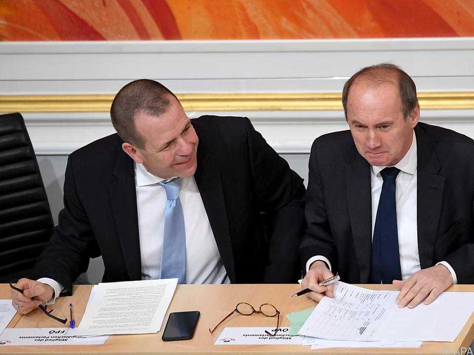 Differenzen zwischen Vilimsky und Karas sieht Schieder nicht