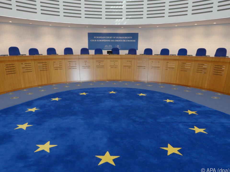 Ein Gerichtsaal am Europäischen Gerichtshof