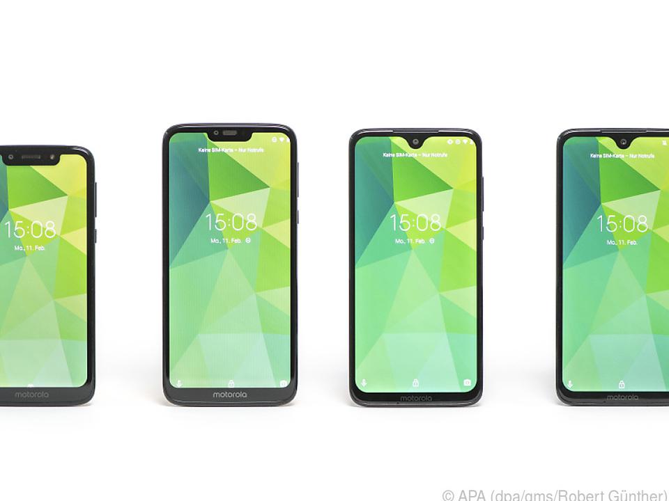 Eine Familie von gleich vier Geräten sind die neuen Moto G7 von Motorola
