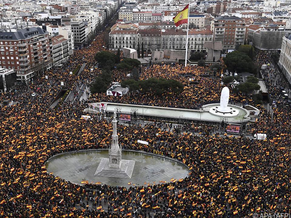 Eine regelrechte Menschenmasse versammelte sich