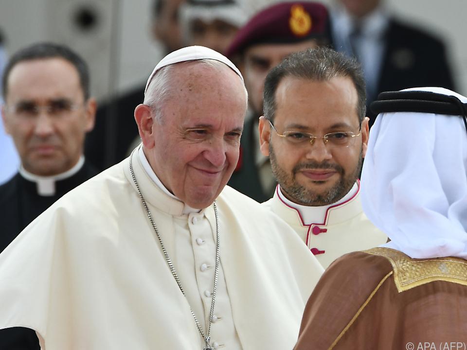 Es ist der erste Besuch eines Katholiken-Oberhaupts in den Emiraten