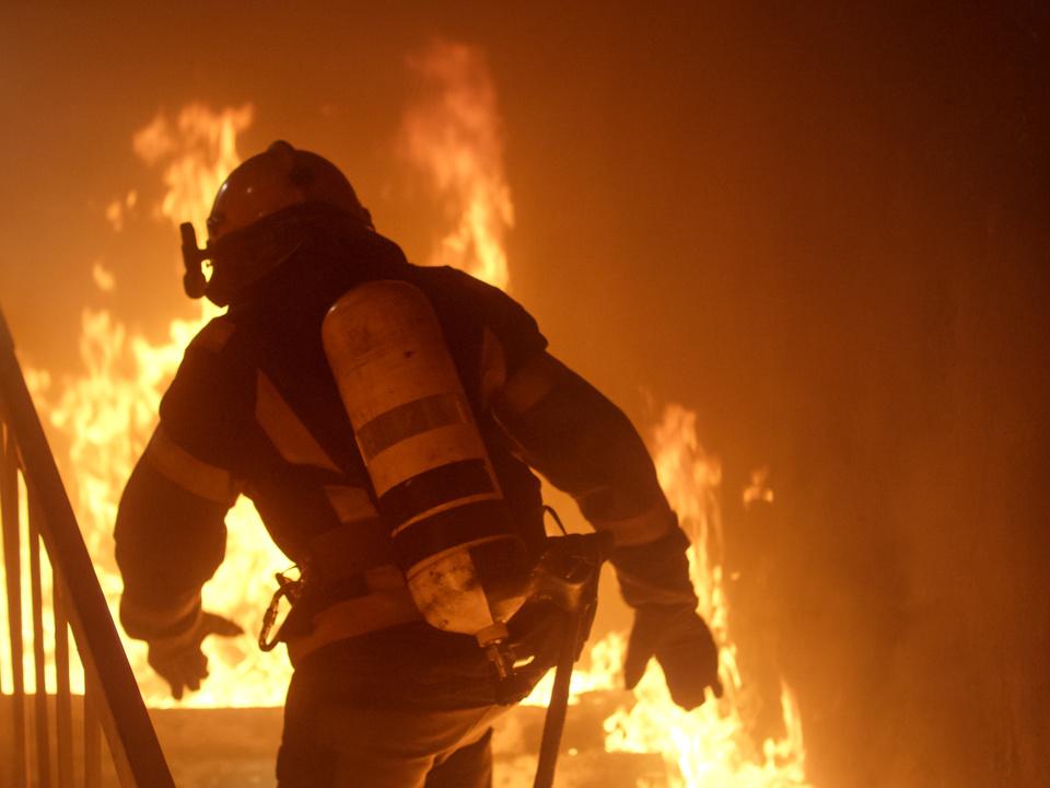 Feuerwehrmann Feuer Haus Feuerwehr leer sym