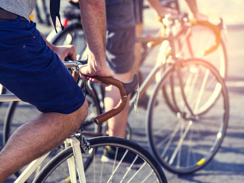 Fahrrad Radfahrer Stadt
