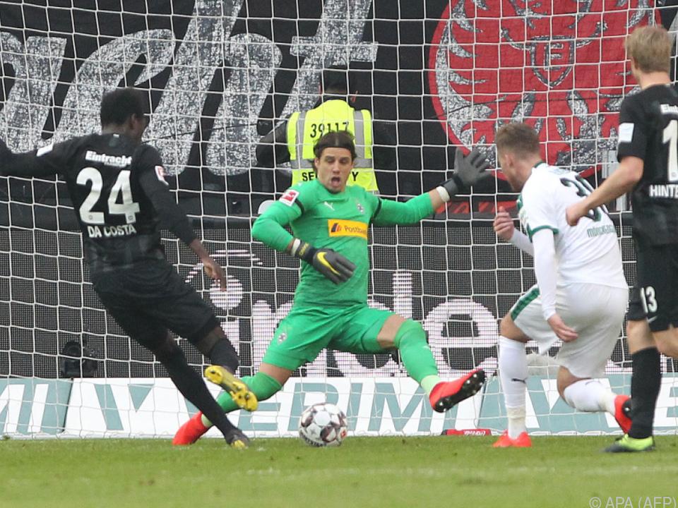 Frankfurt und Gladbach trennten sich mit 1:1