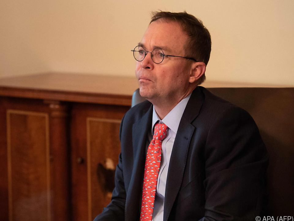Für Mulvaney ist der Regierungsstillstand noch nicht vom Tisch