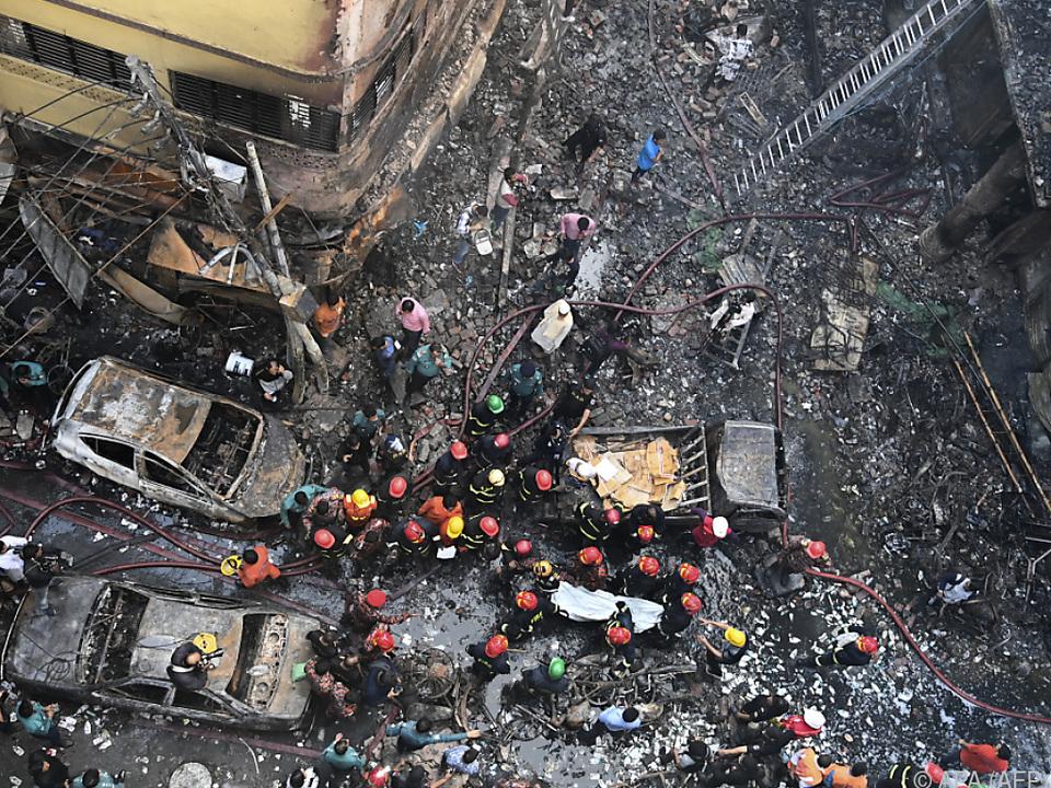 Großbrand in der Altstadt von Dhaka