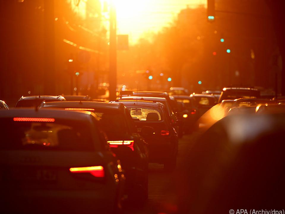 Große Unterschiede zwischen den Automarken verkehr stau umwelt auspuff tanken benzin diesel straße auto sym