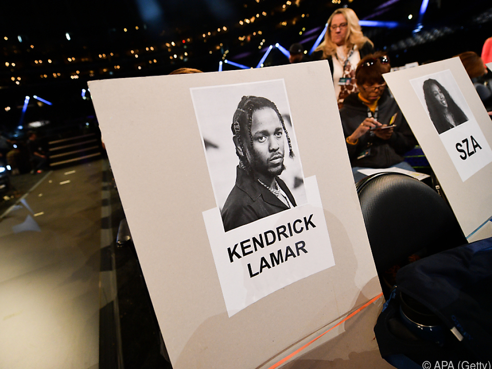 Großer Favorit ist Rap-Superstar Kendrick Lamar