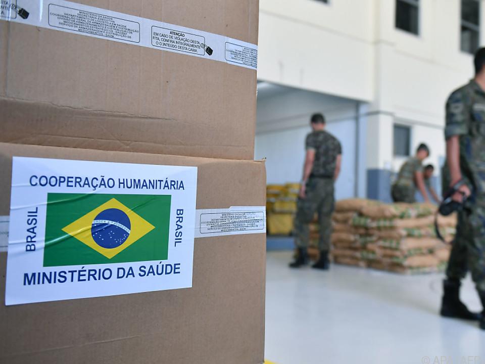 Hilfslieferungen für Venezuela in Brasilien